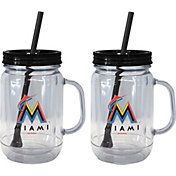 Boelter Miami Marlins 20oz Handled Straw Tumbler 2-Pack