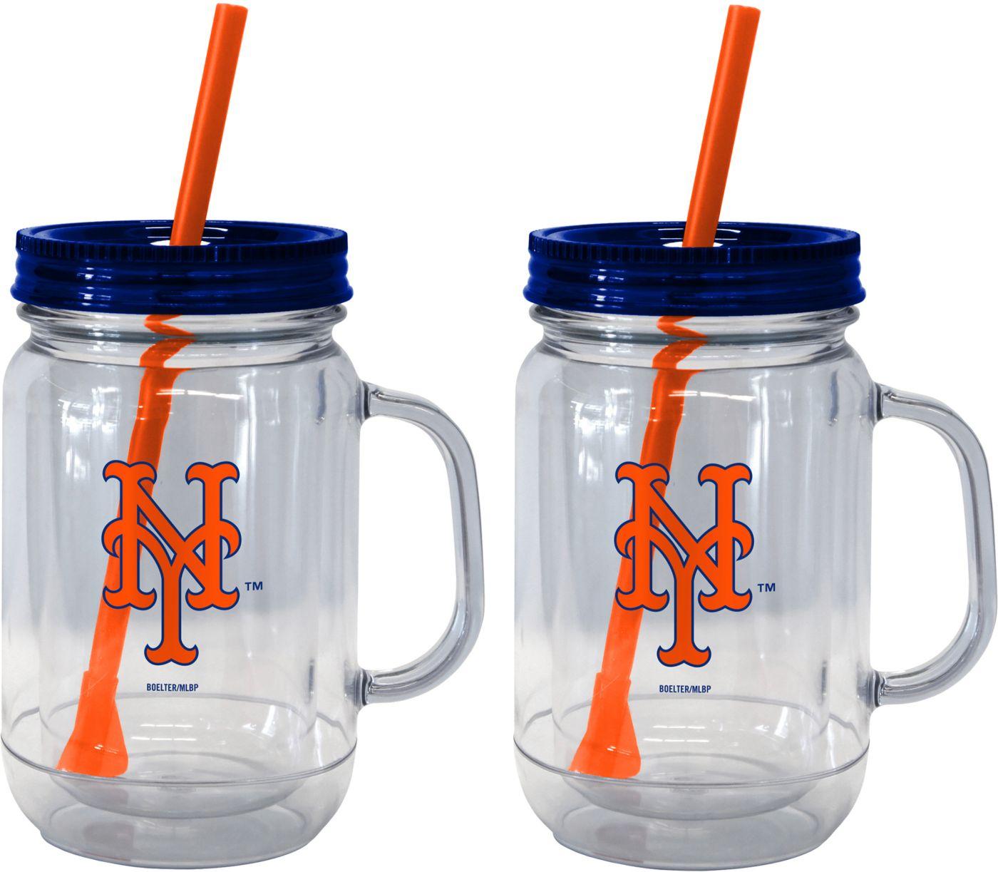 Boelter New York Mets 20oz Handled Straw Tumbler 2-Pack