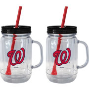 Boelter Washington Nationals 20oz Handled Straw Tumbler 2-Pack
