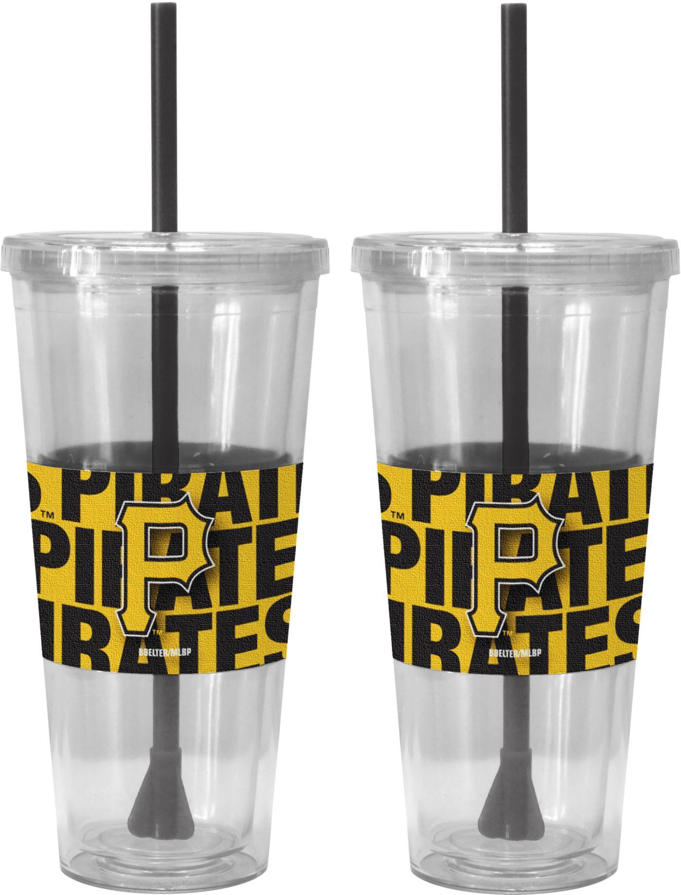 Boelter Pittsburgh Pirates Bold Sleeved 22oz Straw Tumbler 2-Pack