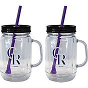 Boelter Colorado Rockies 20oz Handled Straw Tumbler 2-Pack