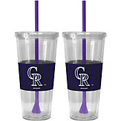 Boelter Colorado Rockies Bold Sleeved 22oz Straw Tumbler 2-Pack