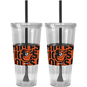 Boelter Baltimore Orioles Bold Sleeved 22oz Straw Tumbler 2-Pack