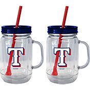 Boelter Texas Rangers 20oz Handled Straw Tumbler 2-Pack