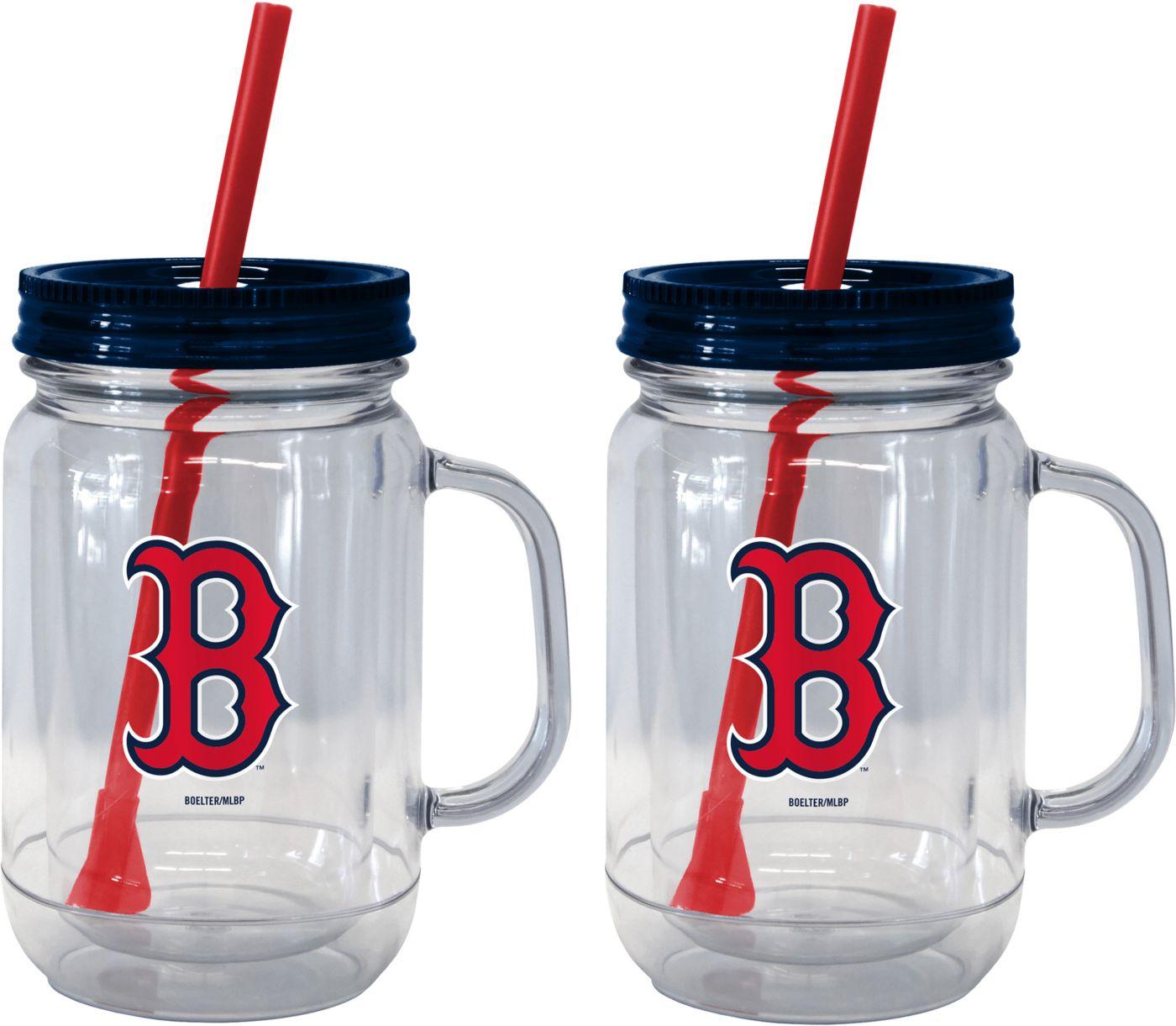 Boelter Boston Red Sox 20oz Handled Straw Tumbler 2-Pack