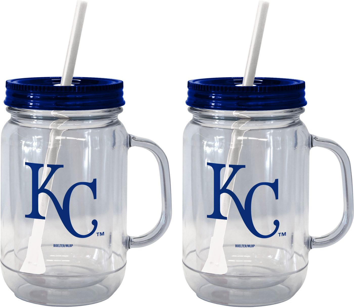 Boelter Kansas City Royals 20oz Handled Straw Tumbler 2-Pack