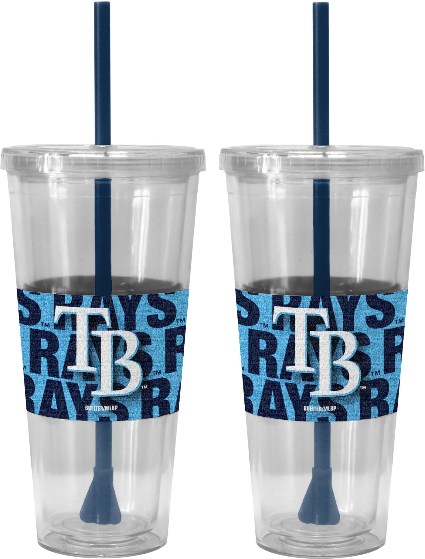 Boelter Tampa Bay Rays Bold Sleeved 22oz Straw Tumbler 2-Pack