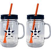 Boelter Houston Astros 20oz Handled Straw Tumbler 2-Pack