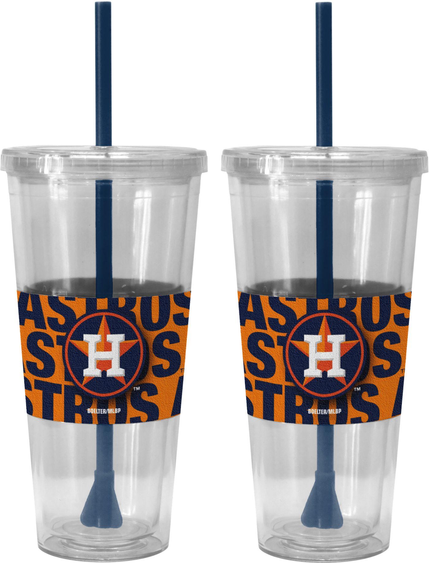 Boelter Houston Astros Bold Sleeved 22oz Straw Tumbler 2-Pack