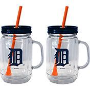 Boelter Detroit Tigers 20oz Handled Straw Tumbler 2-Pack
