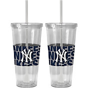 Boelter New York Yankees Bold Sleeved 22oz Straw Tumbler 2-Pack