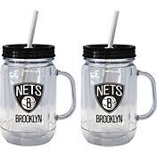 Boelter Brooklyn Nets 20oz Handled Straw Tumbler 2-Pack