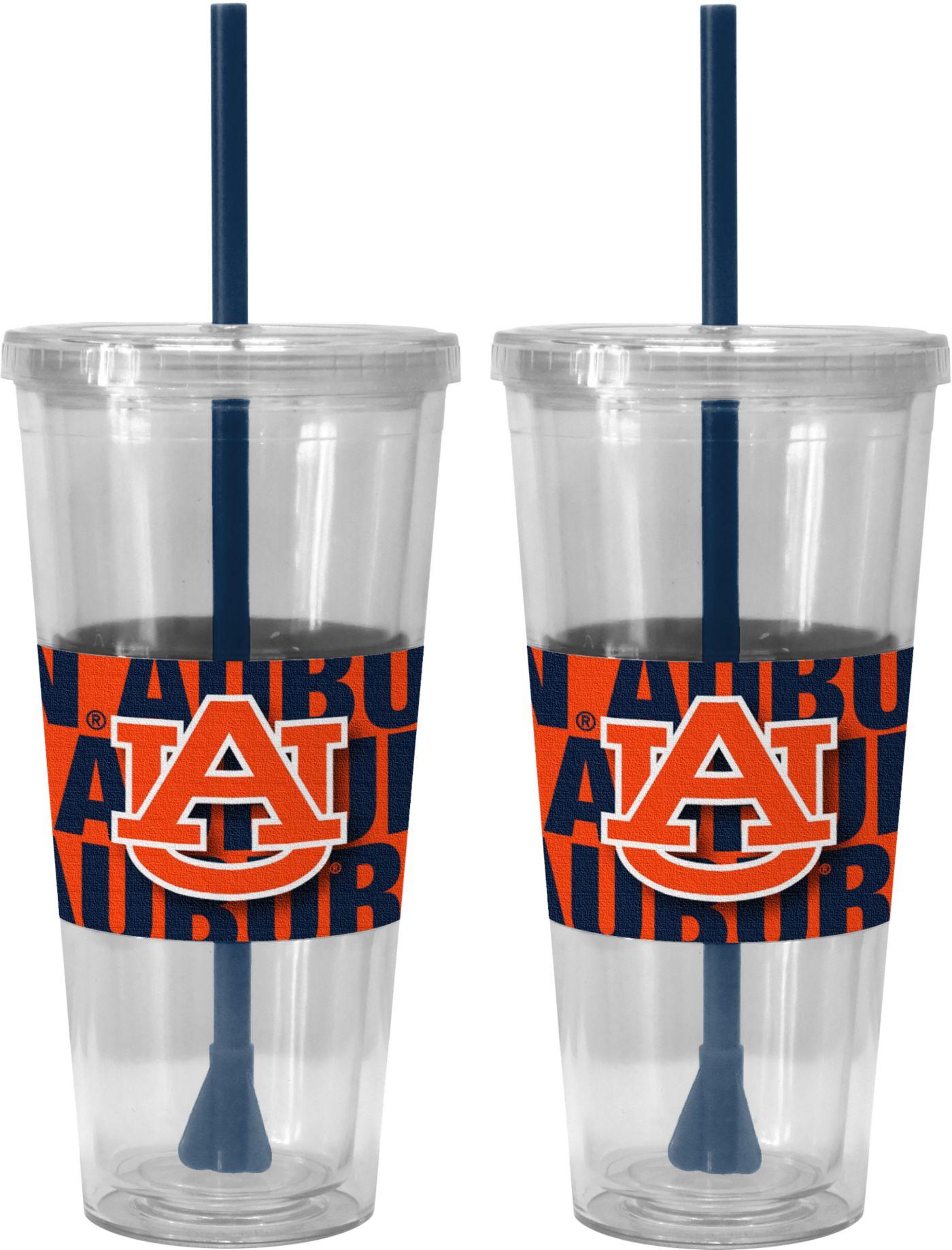 Boelter Auburn Tigers Bold Sleeved 22oz Straw Tumbler 2-Pack