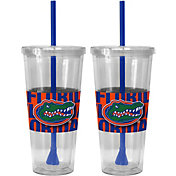 Boelter Florida Gators Bold Sleeved 22oz Straw Tumbler 2-Pack