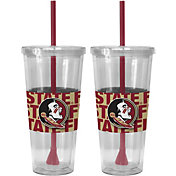 Boelter Florida State Seminoles Bold Sleeved 22oz Straw Tumbler 2-Pack