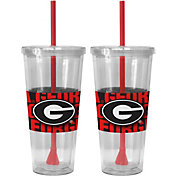 Boelter Georgia Bulldogs Bold Sleeved 22oz Straw Tumbler 2-Pack
