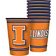 Boelter Illinois Fighting Illini Souvenir 20oz Plastic Cup 8-Pack