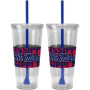 Boelter Ole Miss Rebels Bold Sleeved 22oz Straw Tumbler 2-Pack