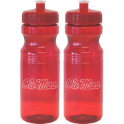 Boelter Ole Miss Rebels 24oz Squeeze Water Bottle 2-Pack