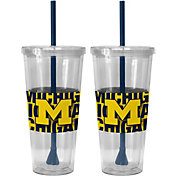 Boelter Michigan Wolverines Bold Sleeved 22oz Straw Tumbler 2-Pack
