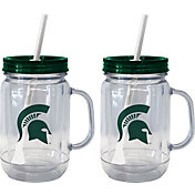 Boelter Michigan State Spartans 20oz Handled Straw Tumbler 2-Pack