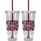 Boelter Mississippi State Bulldogs Bold Sleeved 22oz Straw Tumbler 2-Pack