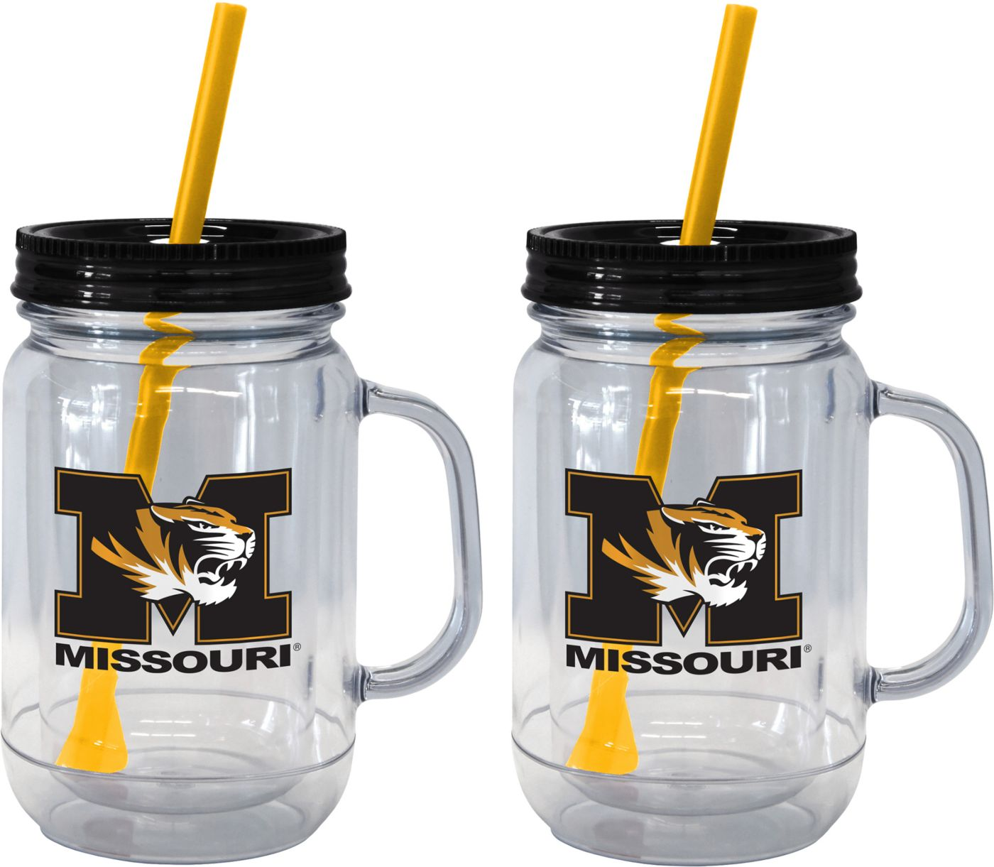Boelter Missouri Tigers 20oz Handled Straw Tumbler 2-Pack