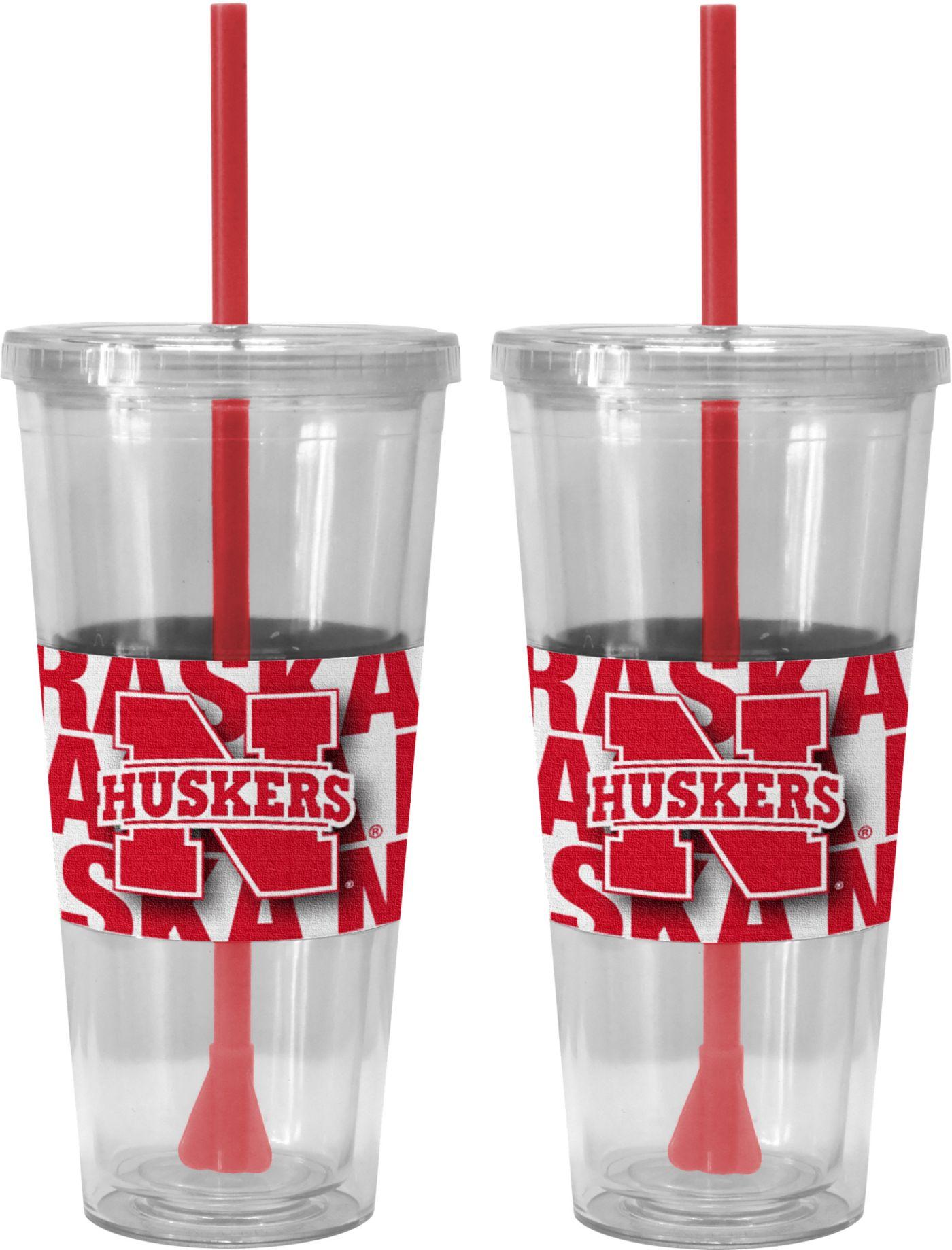 Boelter Nebraska Cornhuskers Bold Sleeved 22oz Straw Tumbler 2-Pack