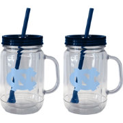 Boelter North Carolina Tar Heels 20oz Handled Straw Tumbler 2-Pack