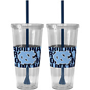 Boelter North Carolina Tar Heels Bold Sleeved 22oz Straw Tumbler 2-Pack