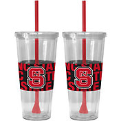 Boelter NC State Wolfpack Bold Sleeved 22oz Straw Tumbler 2-Pack