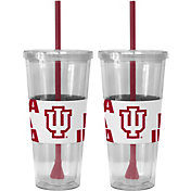 Boelter Indiana Hoosiers Bold Sleeved 22oz Straw Tumbler 2-Pack