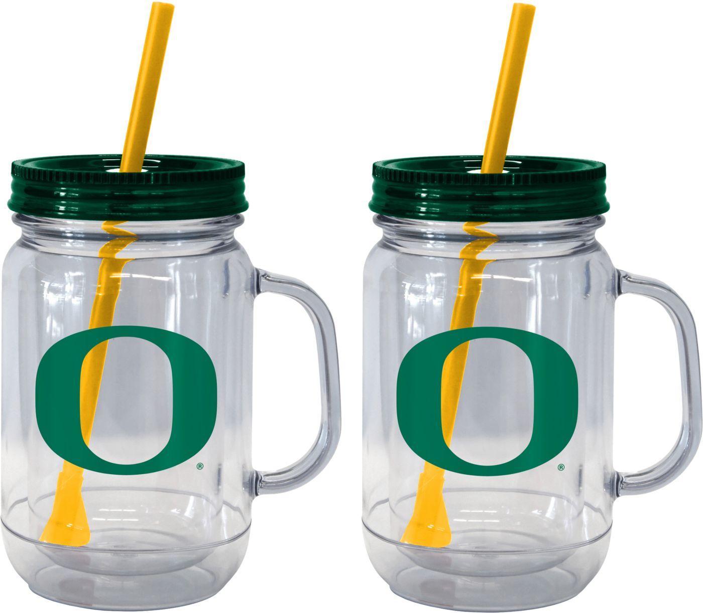 Boelter Oregon Ducks 20oz Handled Straw Tumbler 2-Pack