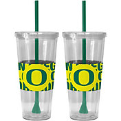 Boelter Oregon Ducks Bold Sleeved 22oz Straw Tumbler 2-Pack