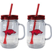 Boelter Arkansas Razorbacks 20oz Handled Straw Tumbler 2-Pack