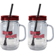 Boelter Arkansas State Red Wolves 20oz Handled Straw Tumbler 2-Pack
