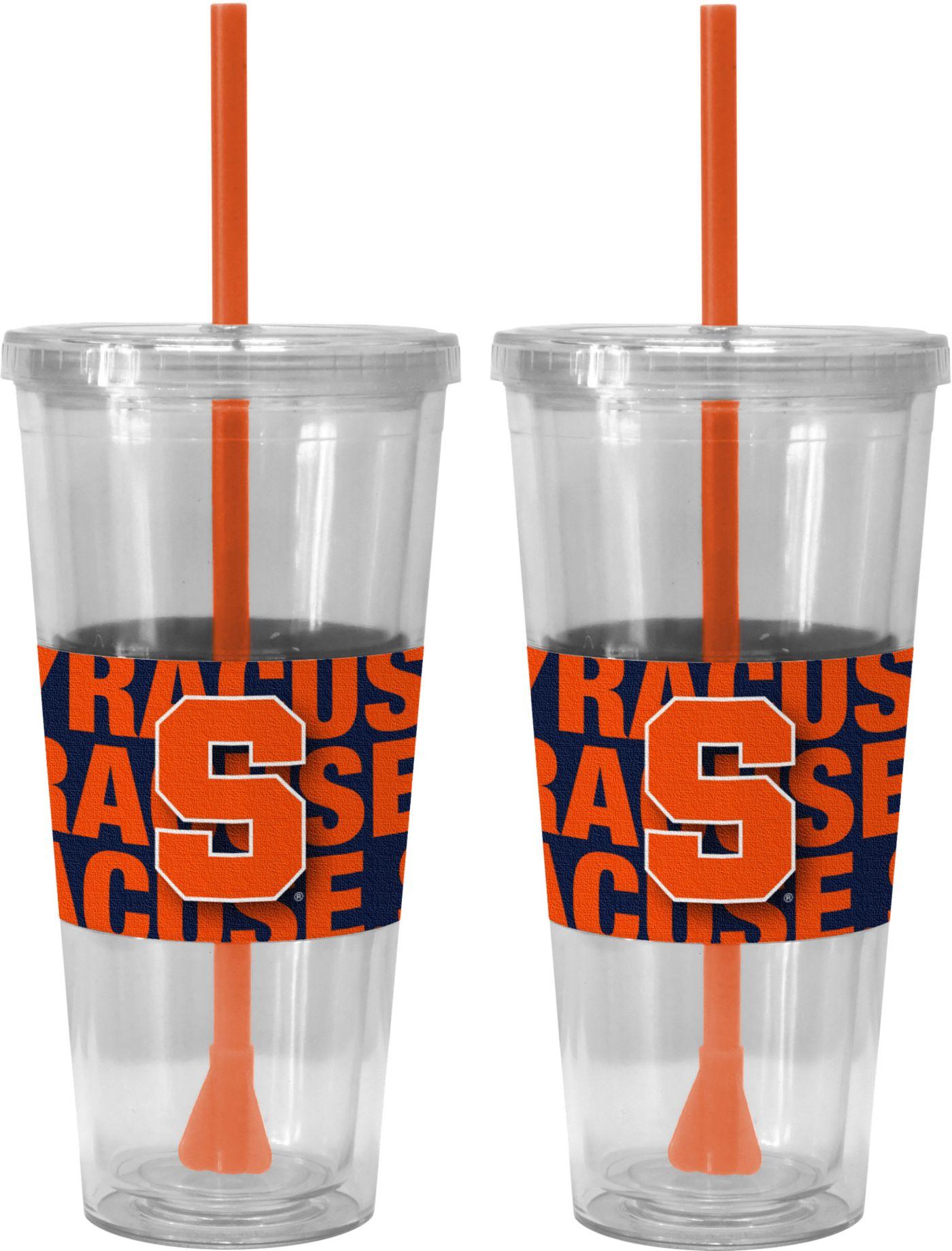 Boelter Syracuse Orange Bold Sleeved 22oz Straw Tumbler 2-Pack