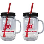 Boelter Utah Utes 20oz Handled Straw Tumbler 2-Pack