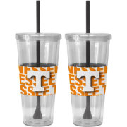 Boelter Tennessee Volunteers Bold Sleeved 22oz Straw Tumbler 2-Pack