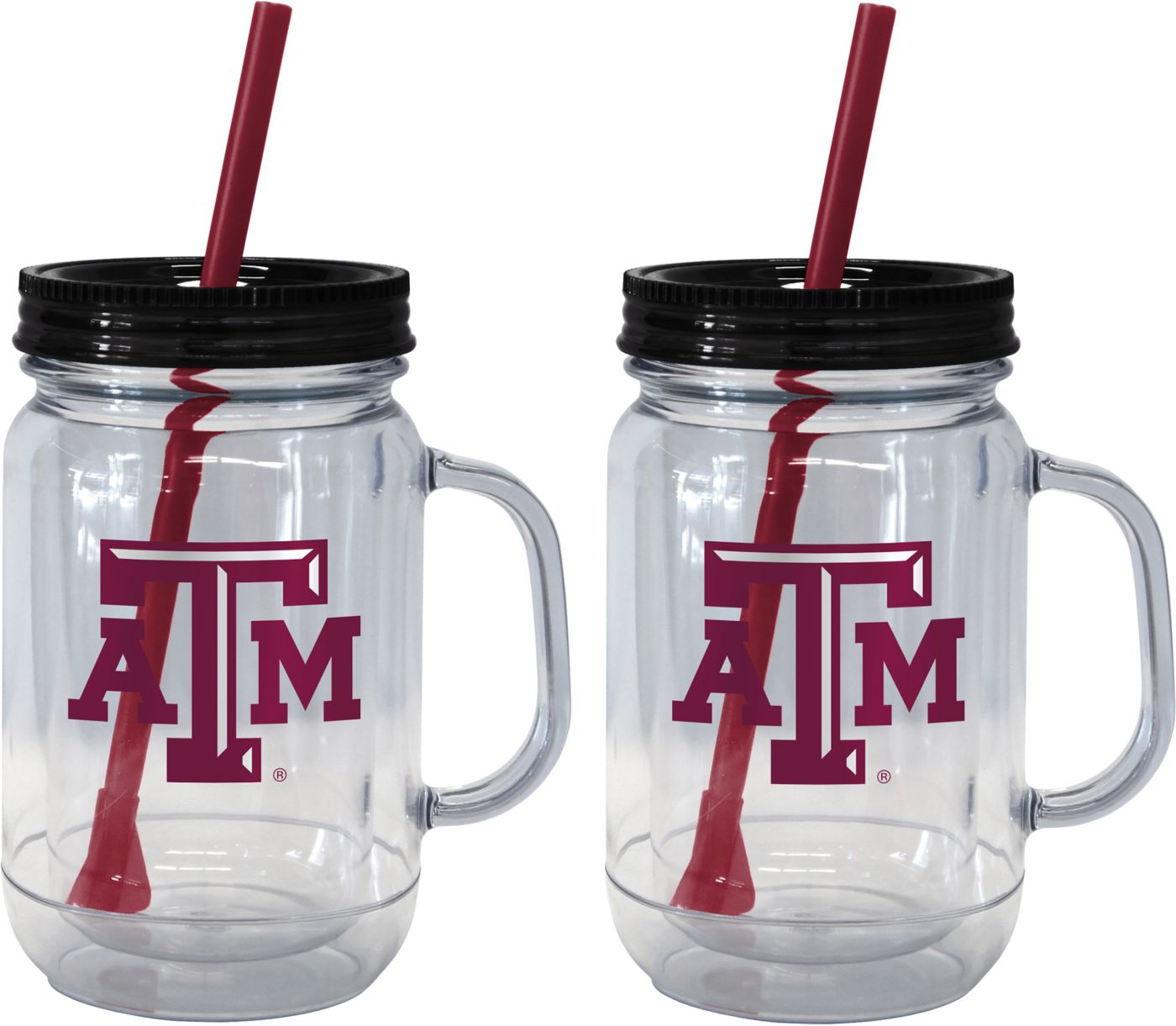 Boelter Texas A&M Aggies 20oz Handled Straw Tumbler 2-Pack