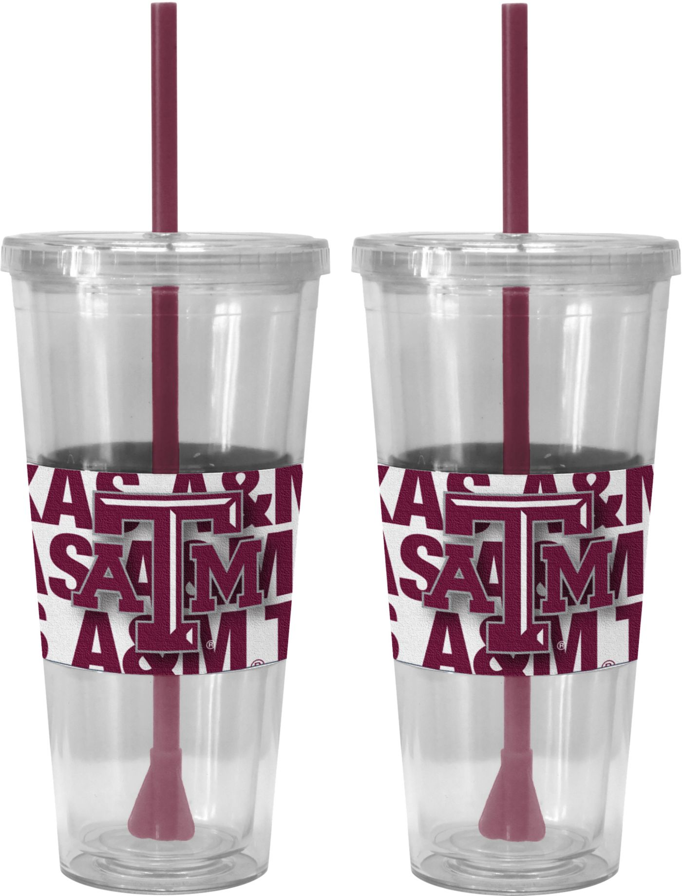 Boelter Texas A&M Aggies Bold Sleeved 22oz Straw Tumbler 2-Pack