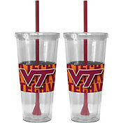 Boelter Virginia Tech Hokies Bold Sleeved 22oz Straw Tumbler 2-Pack