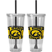 Boelter Iowa Hawkeyes Bold Sleeved 22oz Straw Tumbler 2-Pack