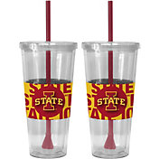 Boelter Iowa State Cyclones Bold Sleeved 22oz Straw Tumbler 2-Pack