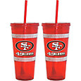 Boelter San Francisco 49ers Bling 22oz Straw Tumbler 2-Pack