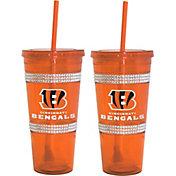 Boelter Cincinnati Bengals Bling 22oz Straw Tumbler 2-Pack
