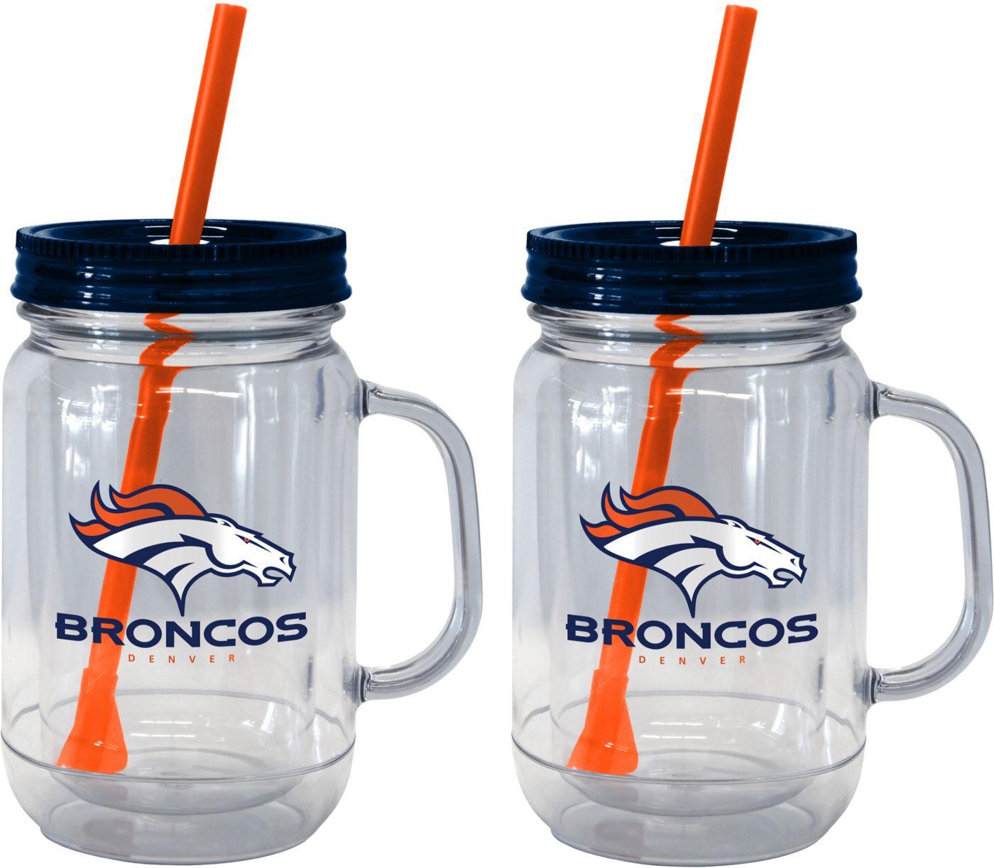 Boelter Denver Broncos 20oz Handled Straw Tumbler 2-Pack