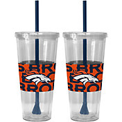 Boelter Denver Broncos Bold Sleeved 22oz Straw Tumbler 2-Pack