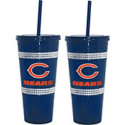 Boelter Chicago Bears Bling 22oz Straw Tumbler 2-Pack