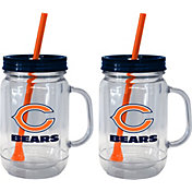 Boelter Chicago Bears 20oz Handled Straw Tumbler 2-Pack